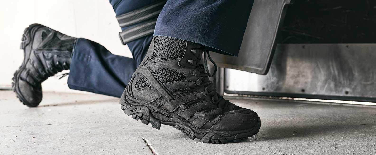 Men's Black Tactical Boots