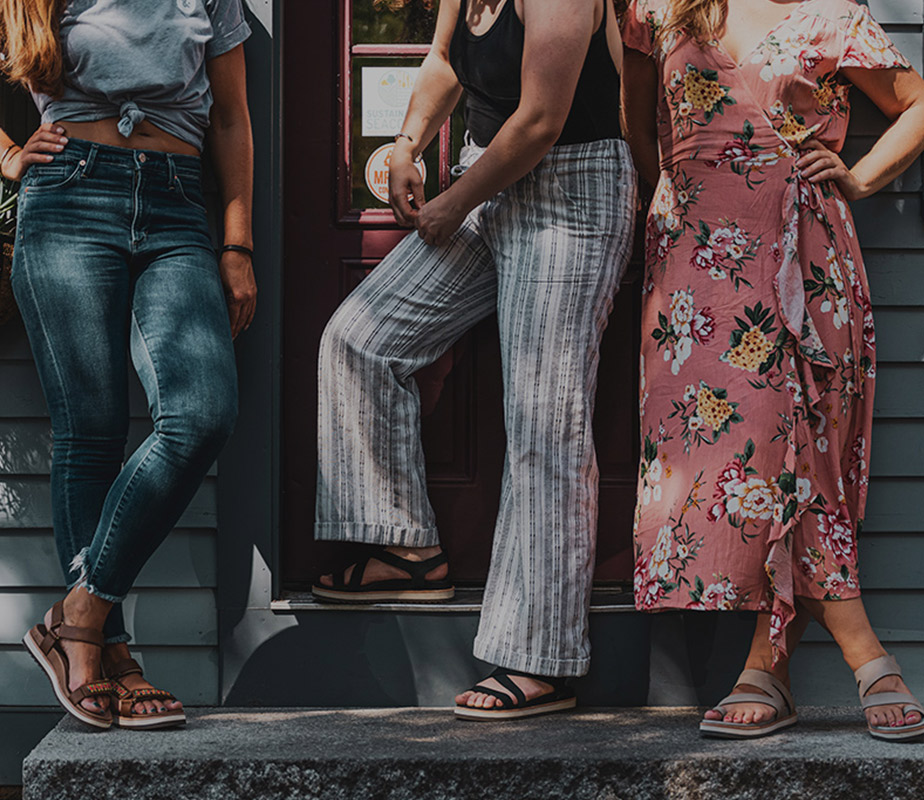 People wearing Bravada Merrell shoes.