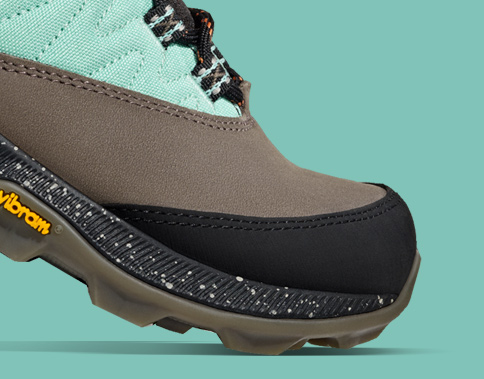 Upper and toe of Zion hiking shoe.