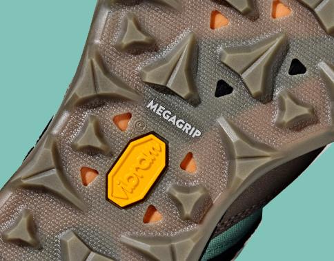 Outsole of Zion hiking shoe.