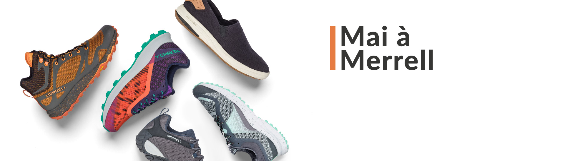 Different Merrell shoes.