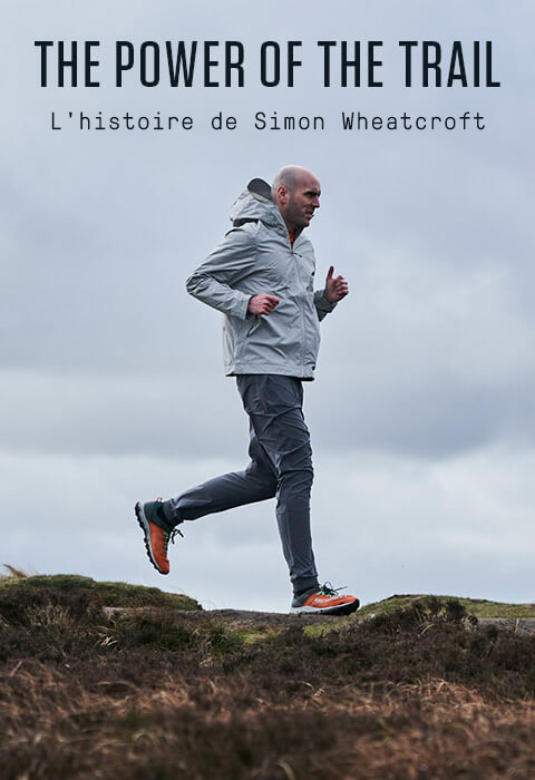 Mens Merrell blue and grey Altalight running shoe.