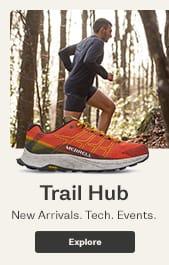 mens Trail Hub. New Arrivals. Tech. Events.