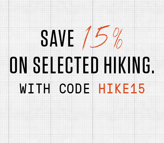 15% Off Hiking - With Code HIKE15