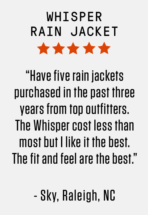 """Have five rain jackets