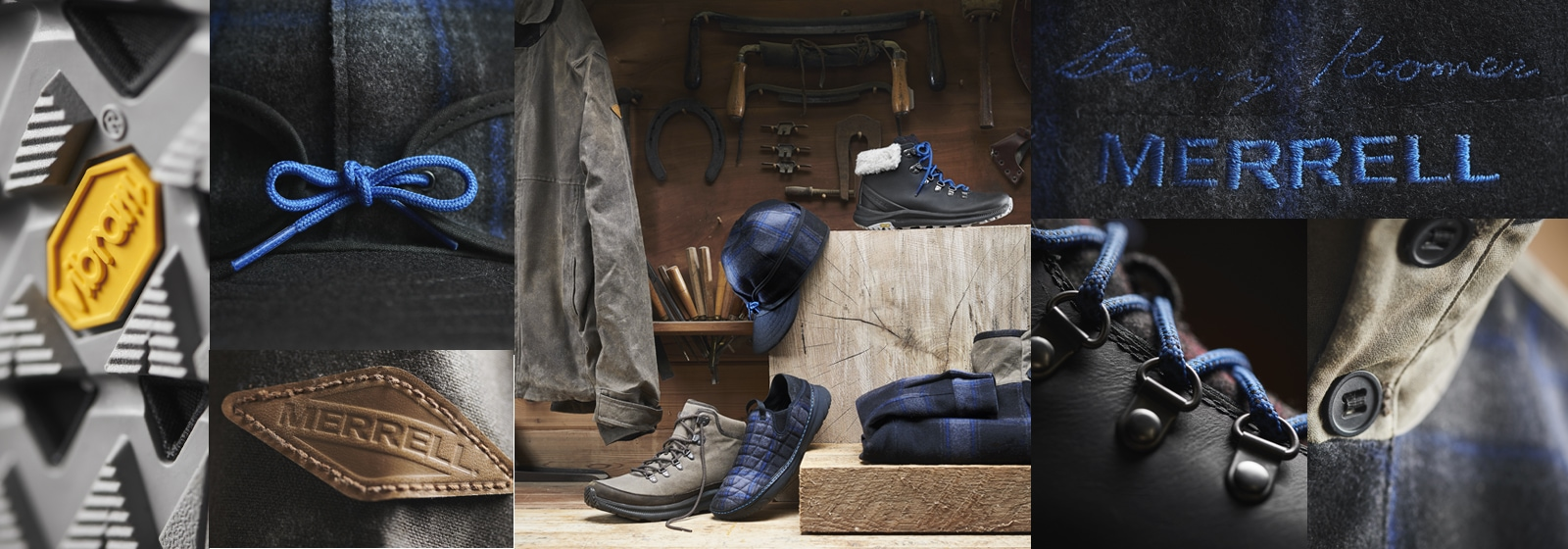 Merrell X Stormy Kromer Product Collage