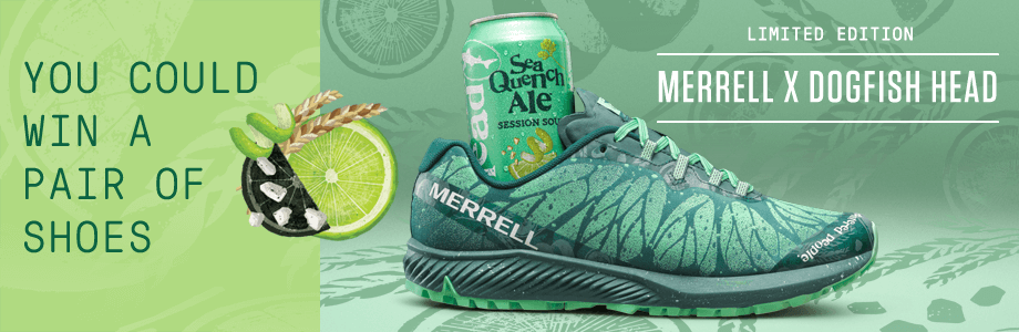 You could win a pair of shoes | Limited Edition - Merrell X Dogfish Head