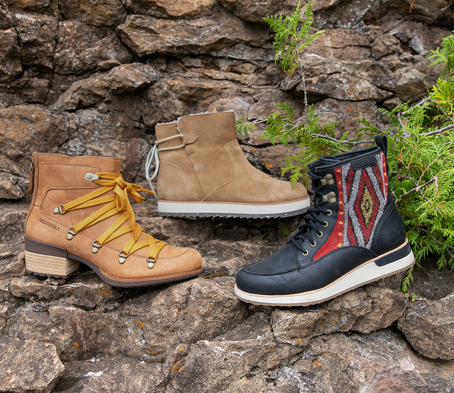 Casual boots to keep your feet warm and cozy in the cold.