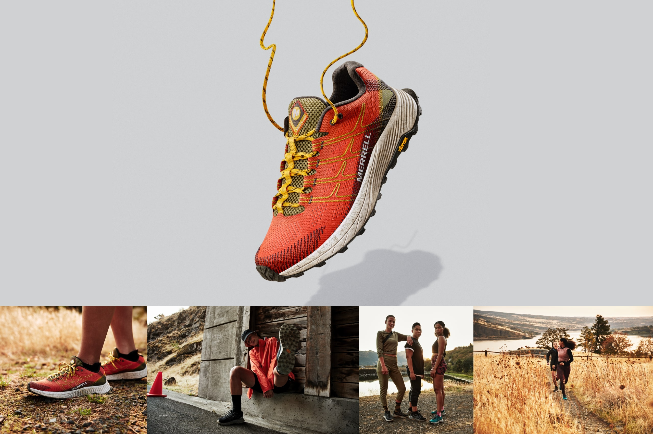Red Merrell Moab shoe.