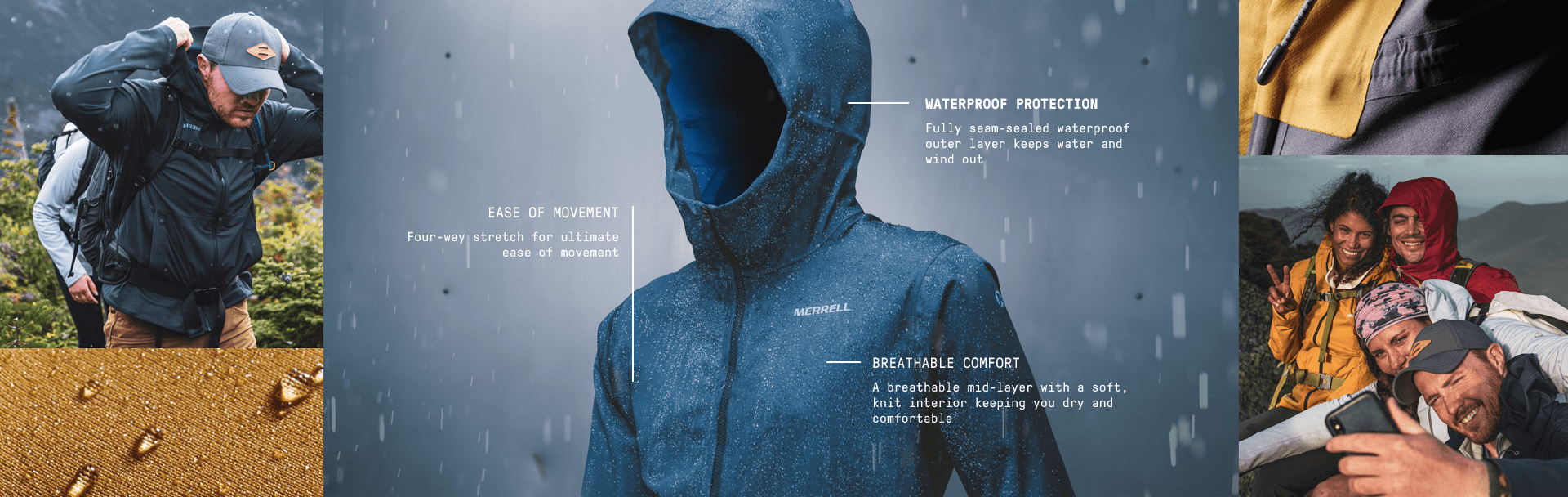 EASE OF MOVEMENT. Four-way stretch for ultimate ease of movement. 