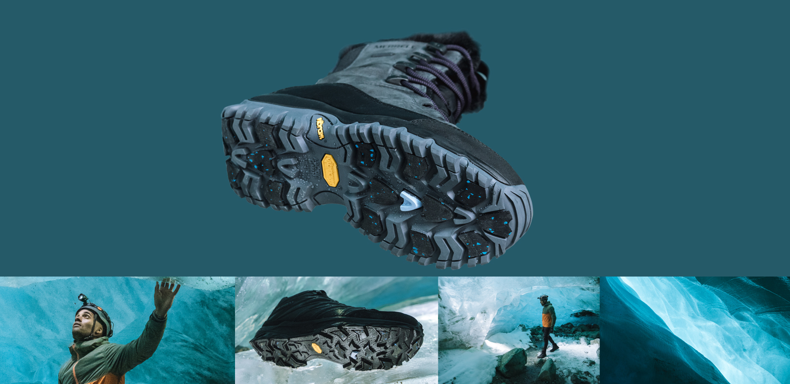 Tread of Merrell's Arctic Grip Boot.