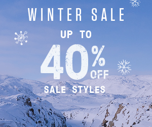 Winter Sale. Save up to 40% on select styles