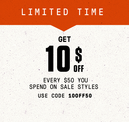 Limited time: Get $10 off every $50 you spend on sale styles. Use code: 10OFF50.