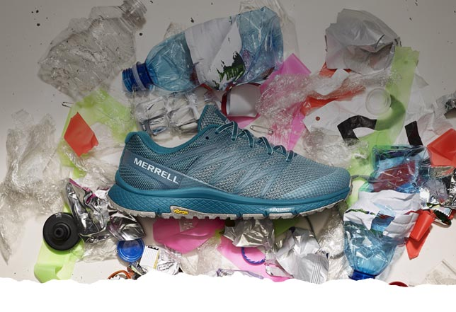 Teal bare access xtr sweeper shoe on recycled materials