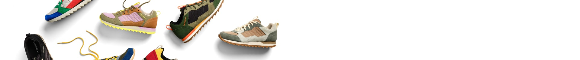 Assorted Merrell Alpine Sneaker shoes.