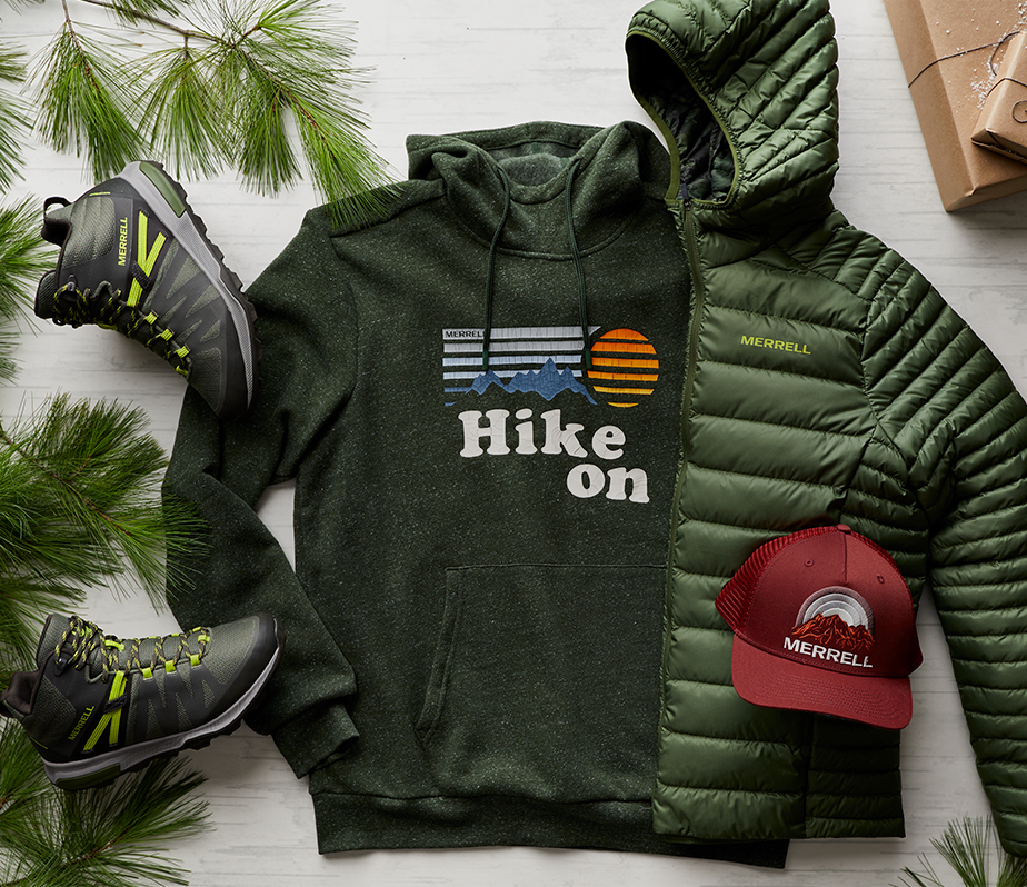 The Men's Holiday Kit laid out in a bundle.