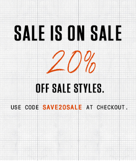 Enjoy 20% off sale styles. | Use Code: SAVE20SALE at checkout