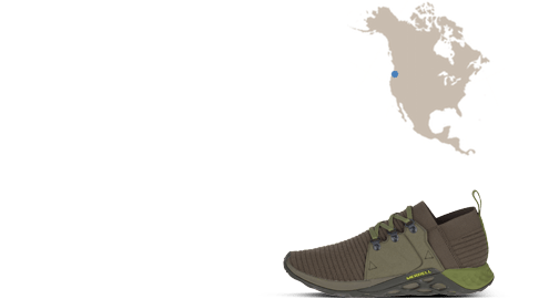 map and shoe