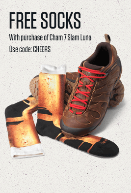 Free Socks With purchase of Cham 7 Slam Luna | Use Code: CHEERS