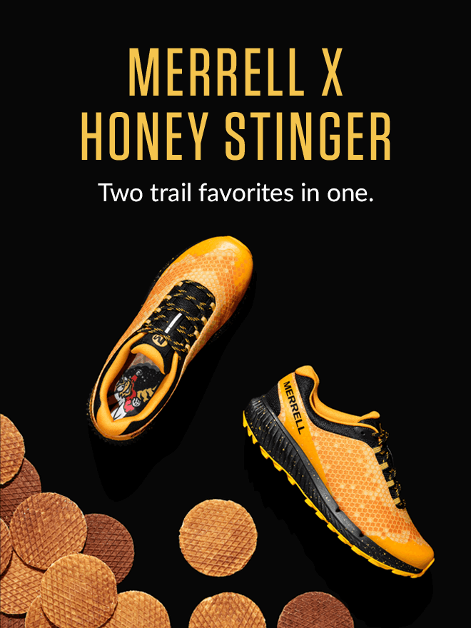 Merell X Honey Stinger. Two trail favorites in one.