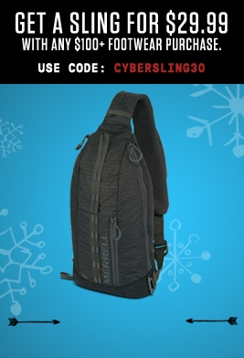 Get a sling for $29.99 with any $100+ footwear purchase.