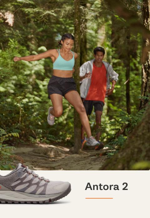 Man Running Forest