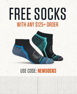 Free Socks with any $100+ Order | Use Code: NEWSOCKS