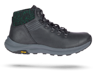 Ontario shoe by Merrell in grey and black.