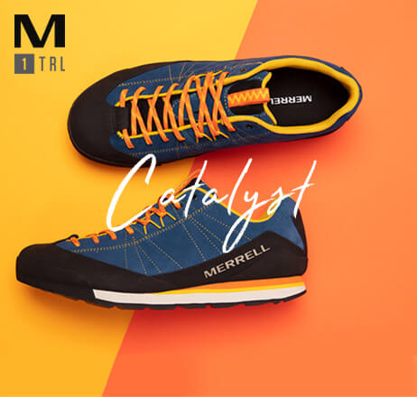 Blue and yellow Catalyst with orange laces.