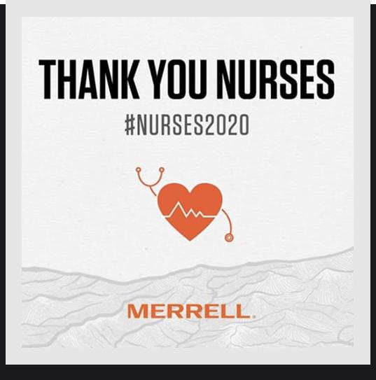 Banner that reads, 'Thank you Nurses. #nurses2020.'