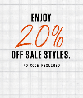 Enjoy 20% Off Sale Styles. No Code Required