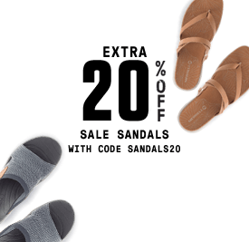 Extra 20% Off Sale Sandals. With code SANDALS20