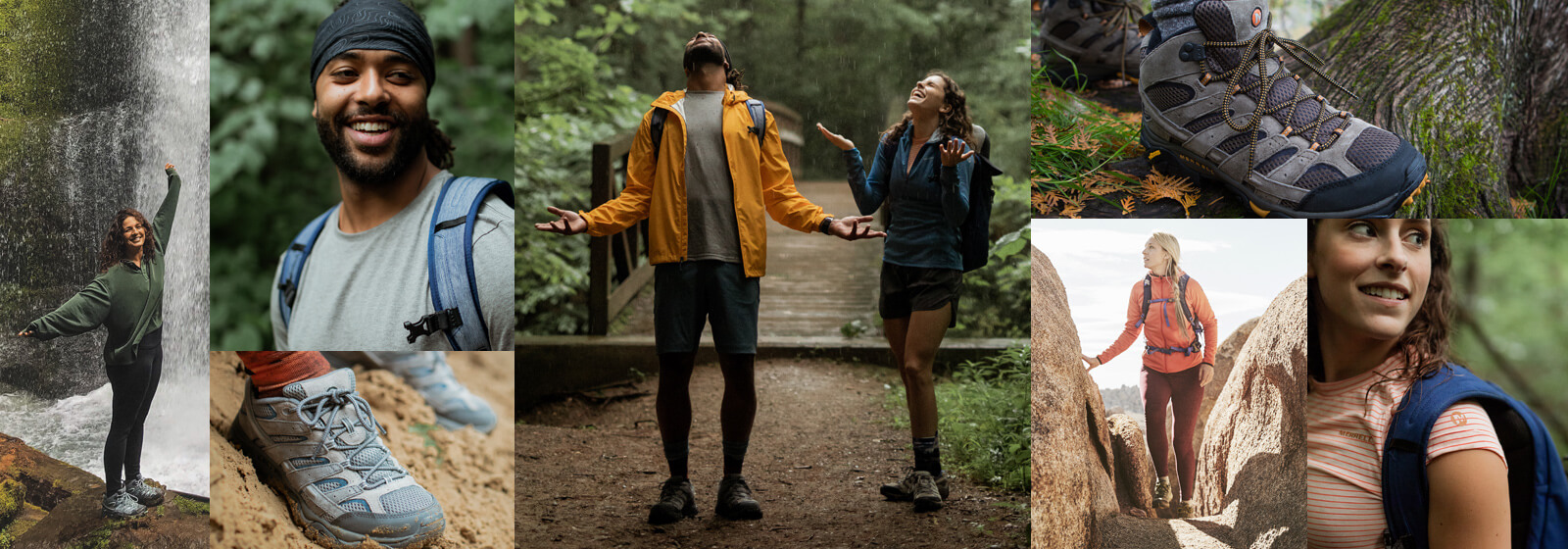 A collage of photos of the Merrell Altalight and Altalight Knit