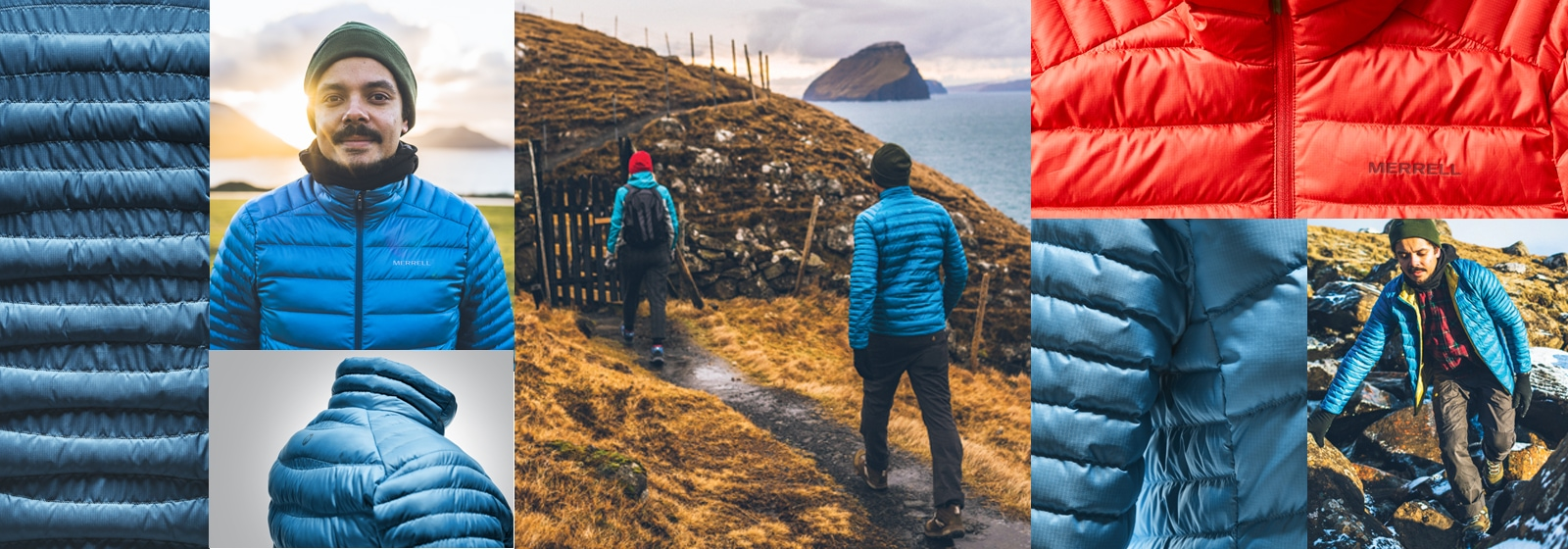 A collage of pictures feature the Ridgevent Jacket