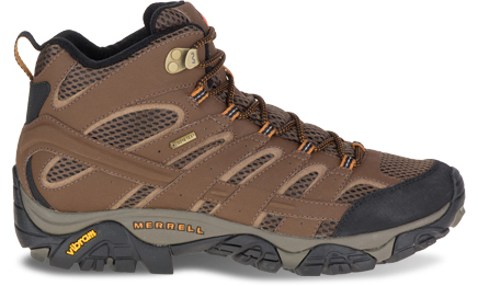 A Moab 2 Mid GORE-TEX featuring GORE-TEX technology.