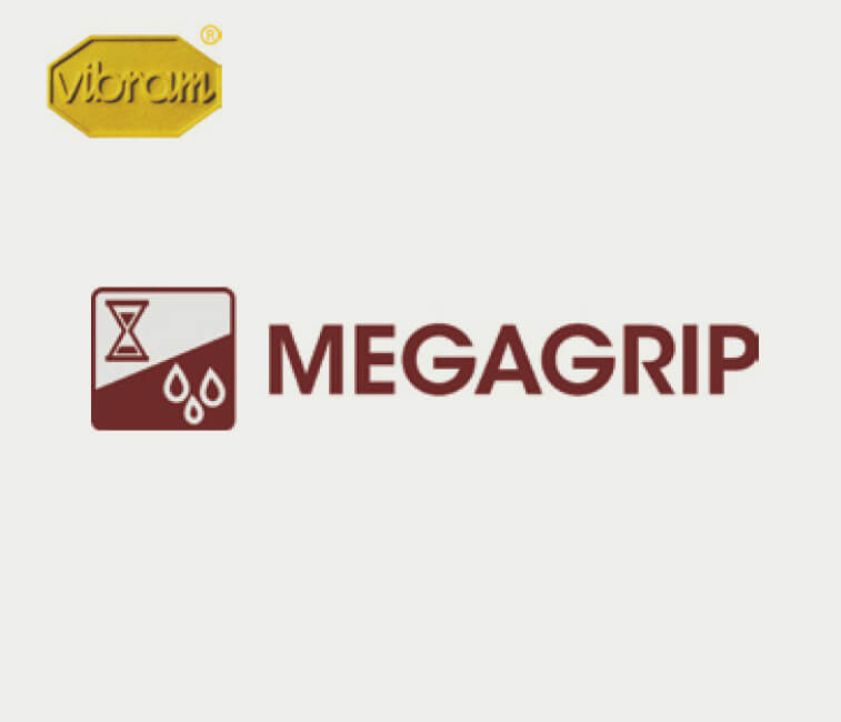 Vibram Megagrip logos.