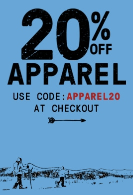 20% off apparel. Use code APPAREL20 at checkout.