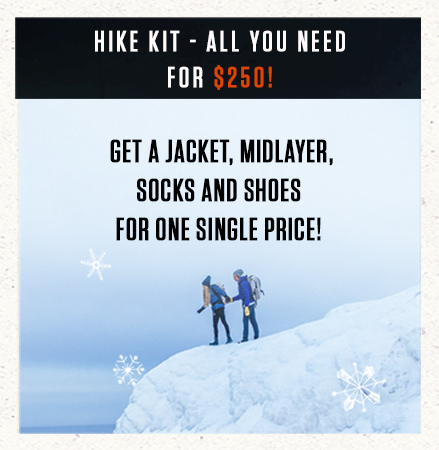 Hike kit - all you need for $250!