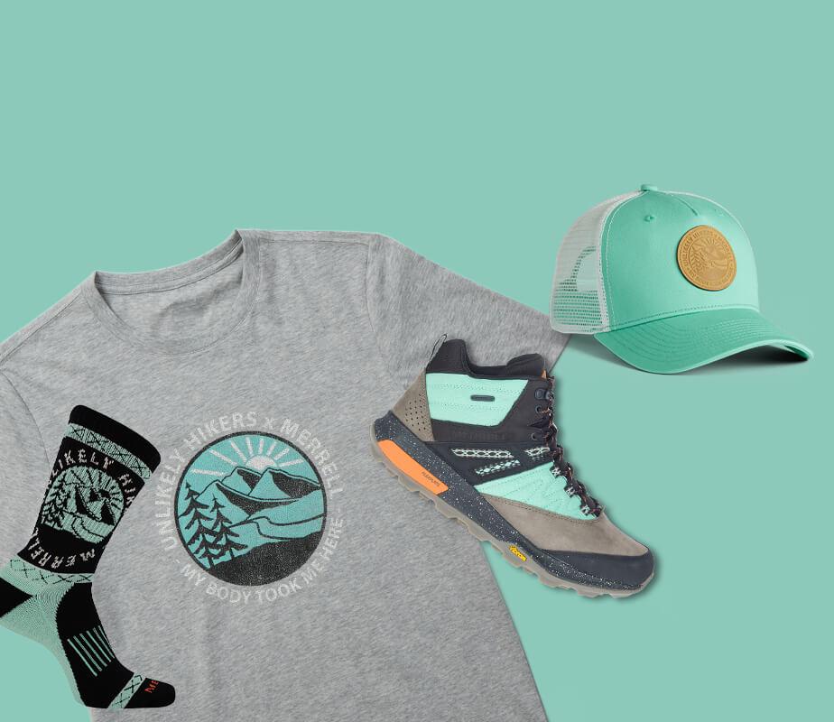 Shoes, socks, shirt & cap.