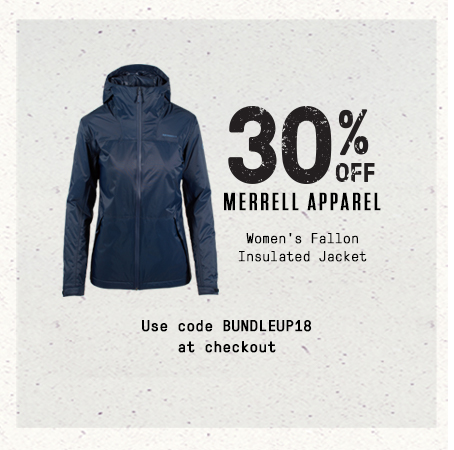 30% off Merrell Apparel. Women's Fallon Insulated Jacket. Use code BUNDELUP18 at checkout.