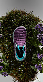 Merrell purple slip on shoes.