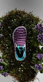 Merrell purple slip on shoes.