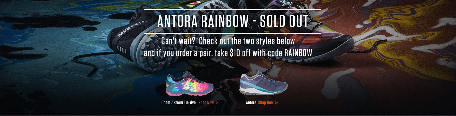 Antora Rainbow - Soldout | Can't wait? Check out the two styles below and if you order a pair, take $10 off with code RAINBOW