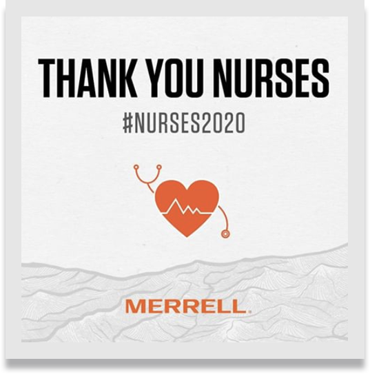 Banner that reads, 'Thank you Nurses. #nurses2020.'