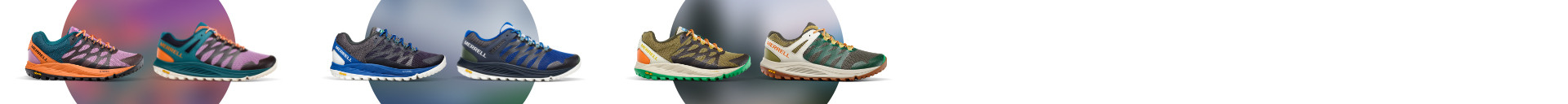 Assorted Merrell See America Collection shoes.
