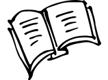 An open book icon.