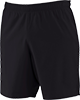 A pair of black athletic shorts.