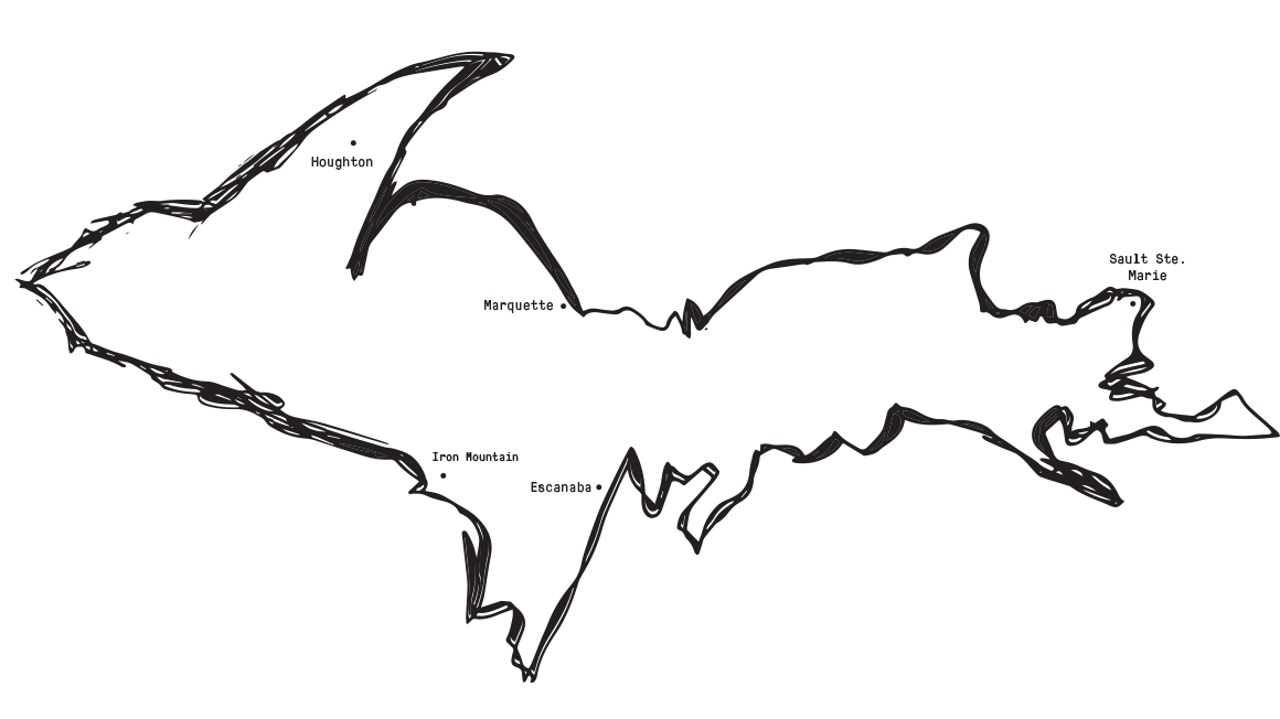 Map of the U.P