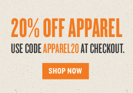 Extra 20% off apparel with code APPAREL20