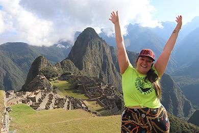 Jenny Bruso at Machu Picchu.